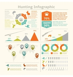 Hunting infographics vector