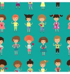 kids background vector image vector image