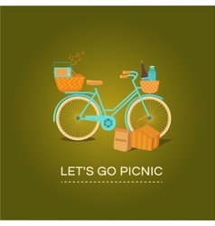Let s go to picnic vector image vector image
