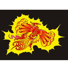 Phoenix bird vector image vector image