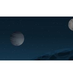 Space with planet of landscape vector image