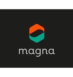 Abstract hands arrows logo design Creative vector image