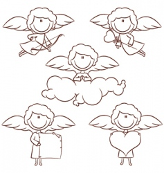cute cupid set vector image