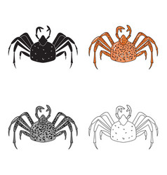 king crab icon in cartoon style isolated on white vector image vector image