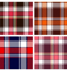 seamless checkered vector pattern vector image vector image