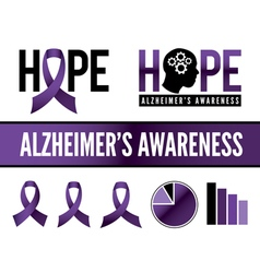 Alzheimers Graphics vector image vector image