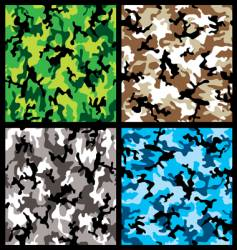 camouflage set vector image vector image