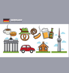 german travel destination promotional poster with vector image