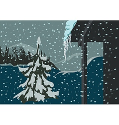 Spruce and snow vector image