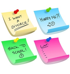 Sticky note options vector image