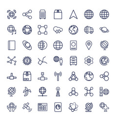 49 global icons vector