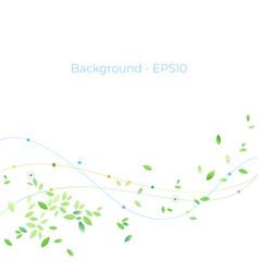 abstract background nature green concept with vector image