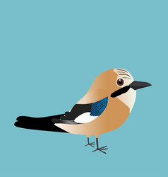 An of a eurasian jay vector