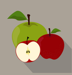 Apples isolated apples icon vector