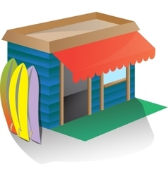 around sports equipment - rent surfboard or vector image