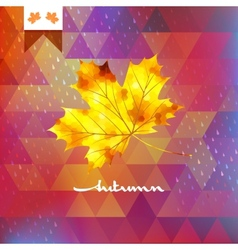 Autumn abstract geometric background EPS 10 vector