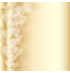 Background hearts vector