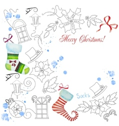 Background with Christmas things vector
