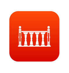 Balustrade icon digital red vector
