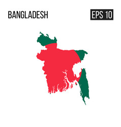 bangladesh map border with flag eps10 vector image