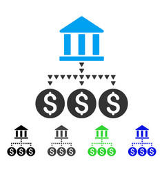Bank structure flat icon vector
