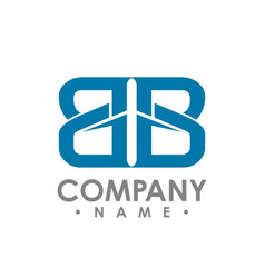 bb initial letter realty logo design lettering vector image
