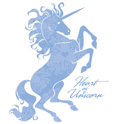 Beautiful prance unicorn logo template vector