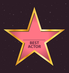 Best actor famous people star symbol vector