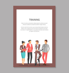 business people disscussing vector image