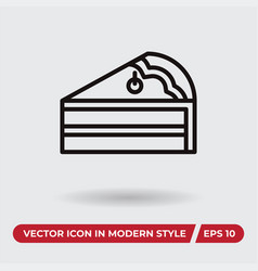 cake icon in modern style for web site and mobile vector image