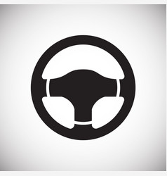 Car steering wheel on white background for graphic vector