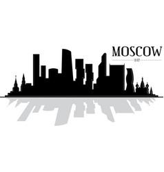 City moscow skyline silhouette vector