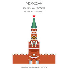 colorful moscow landmark 1 vector image
