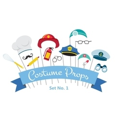 costume party and photo booth props profession vector image
