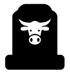 Cow cemetery icon vector
