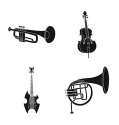 design of music and tune sign set of music vector image