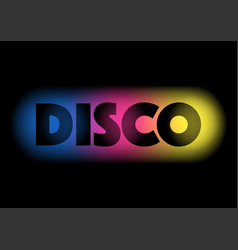 Disco on colourful background vector
