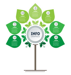 eco business concept with 7 options parts vector image