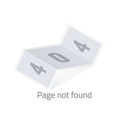 Error 404 page not found vector