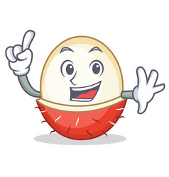 Finger rambutan mascot cartoon style vector