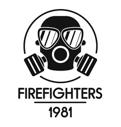 firefighters logo simple style vector image