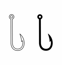 Fish hook icons vector