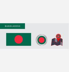 Flag bangladesh is horizontally isolated vector