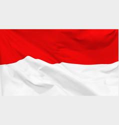Flag republic indonesia vector