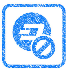 Forbidden dashcoin framed stamp vector