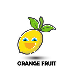 fresh fruit emoticon symbol vector image