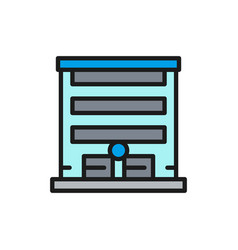 garage with automatic car gate flat color line vector image