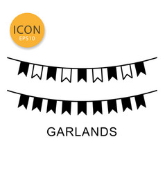 Garlands icon isolated flat style vector