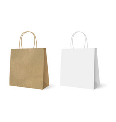 gift paper bags set isolated white background vector image