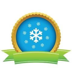 Gold snow logo vector